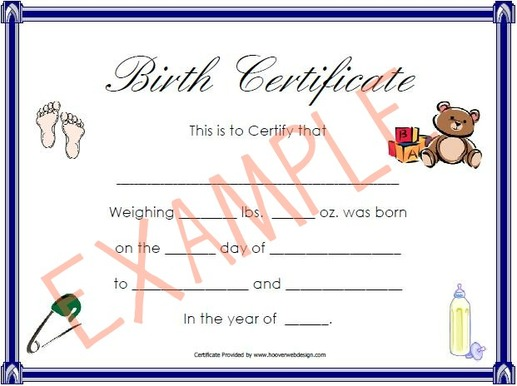 how to make a birth certificate